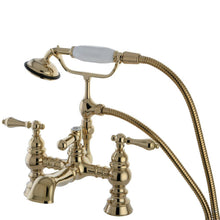 Load image into Gallery viewer, Kingston Brass Heritage Deck Mount Tub Filler with Hand Shower