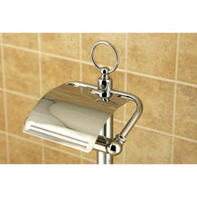 Load image into Gallery viewer, Kingston Brass Pedestal Toilet Paper Holder Stand with Brush