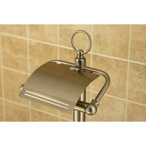 Kingston Brass Pedestal Toilet Paper Holder Stand with Brush