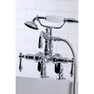 Kingston Brass Vintage Deck-Mount Clawfoot Tub Filler With Hand Shower
