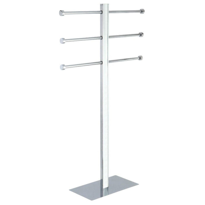 Kingston Brass Freestanding Stainless Steel Towel Holder with Rectangular Base