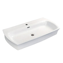 "Load image into Gallery viewer, Kingston Brass Fauceture Charlotte Elongated 35"" x 18"" Rectangular White Vessel Sink"