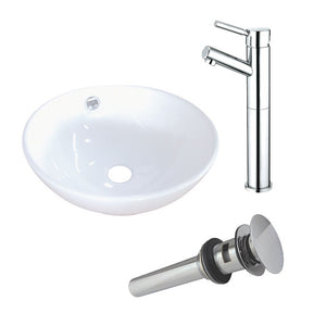 Kingston Brass Perfection Vitreous China Basin With Sink Faucet and Drain Combo
