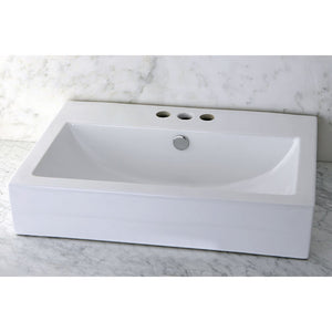 Kingston Brass Fauceture Century Vessel Sink with Widespread 4-Inch Faucet Mount