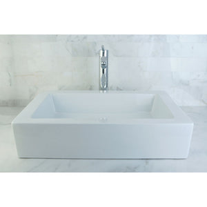 Kingston Brass Fauceture Pacifica Vessel Sink in White