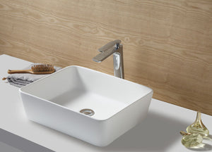 "Kingston Brass Fauceture Arcticstone Solid Surface Matte Stone 18"" x 14-1/2"" Vessel Bathroom Sink"