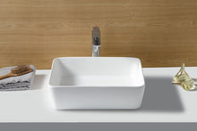 "Load image into Gallery viewer, Kingston Brass Fauceture Arcticstone Solid Surface Matte Stone 18"" x 14-1/2"" Vessel Bathroom Sink"