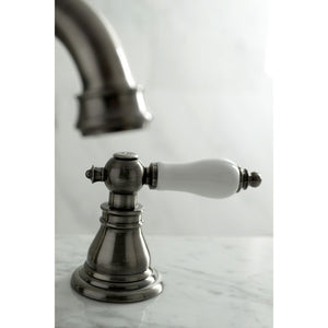 Kingston Brass American Patriot Widespread Bathroom Faucet with Porcelain Handles