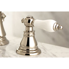 Load image into Gallery viewer, Kingston Brass American Patriot Widespread Bathroom Faucet with Porcelain Handles