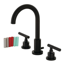 Load image into Gallery viewer, Kingston Brass Kaiser Widespread Bathroom Faucet with Brass Pop-Up