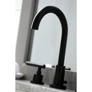 Kingston Brass Kaiser Widespread Bathroom Faucet with Brass Pop-Up