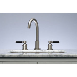 Kingston Brass Kaiser Widespread Bathroom Faucet with Matching Brass Pop-Up