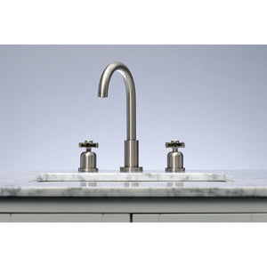 Kingston Brass Millennium Widespread Bathroom Faucet with Cross Handles
