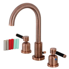 Load image into Gallery viewer, Kingston Brass Kaiser Widespread Bathroom Faucet with Matching Brass Pop-Up