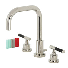 Load image into Gallery viewer, Kingston Brass Kaiser Widespread Bathroom Faucet with Matching Pop-Up Drain