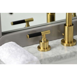 Kingston Brass Kaiser Widespread Bathroom Faucet with Pop-Up Drain