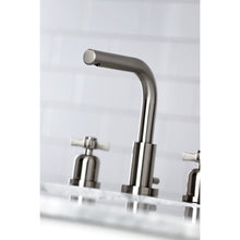 Load image into Gallery viewer, Kingston Brass Millennium 8 in. Widespread Cross Handle Bathroom Faucet with Retail Drain