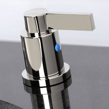 Load image into Gallery viewer, Kingston Brass NuvoFusion 8 in. Widespread Bathroom Faucet with Matching Pop-Up Drain