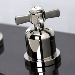 Kingston Brass Millennium 8 in. Widespread Cross Handle Bathroom Faucet with Retail Drain