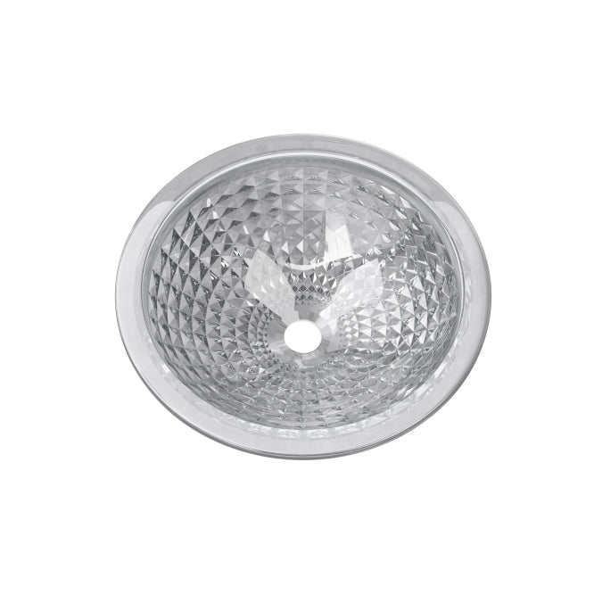 Cantrio Koncepts Crystal Glass Round Vessel Sink