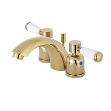 Load image into Gallery viewer, Kingston Brass Paris Mini-Widespread Bathroom Faucet with Porcelain Handles