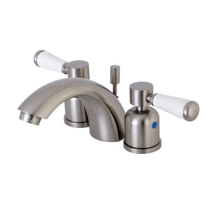 Kingston Brass Paris Mini-Widespread Bathroom Faucet with Porcelain Handles