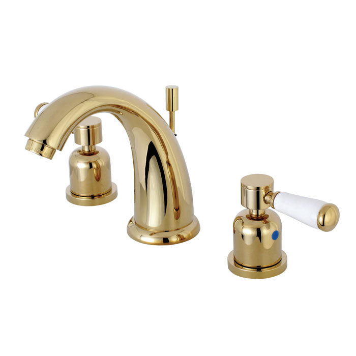 Kingston Brass Paris 8 in. Widespread Porcelain Handle Bathroom Faucet