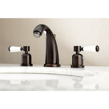 Load image into Gallery viewer, Kingston Brass Paris 8 in. Widespread Porcelain Handle Bathroom Faucet