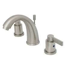 Load image into Gallery viewer, Kingston Brass NuvoFusion 8 in. Widespread Bathroom Faucet with Pop-Up Drain