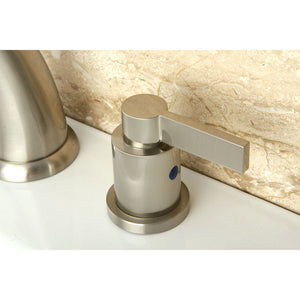 Kingston Brass NuvoFusion 8 in. Widespread Bathroom Faucet with Pop-Up Drain