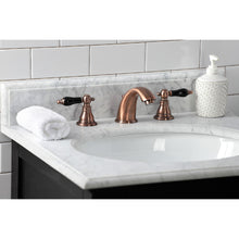 Load image into Gallery viewer, Kingston Brass Duchess Widespread Bathroom Faucet with Plastic Pop-Up