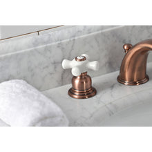 Load image into Gallery viewer, Kingston Brass Magellan Widespread Cross Handle Bathroom Faucet