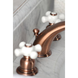 Kingston Brass Magellan Widespread Cross Handle Bathroom Faucet