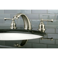 Load image into Gallery viewer, Kingston Brass Naples Widespread Bathroom Faucet with Matching Pop-Up Drain