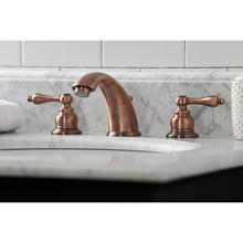 Load image into Gallery viewer, Kingston Brass Victorian Widespread Bathroom Faucet with Lever Handles