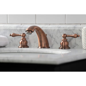 Kingston Brass Victorian Widespread Bathroom Faucet with Lever Handles