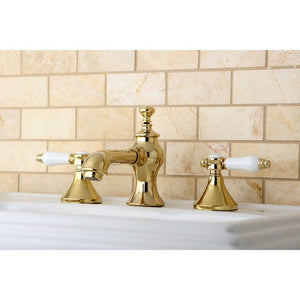Kingston Brass Bel-Air 8 in. Widespread Bathroom Faucet with White Porcelain Lever Handles