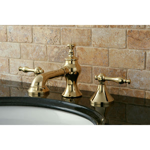 Kingston Brass Naples 8 in. Widespread Bathroom Faucet with Pop-Up Drain Included
