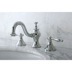 Kingston Brass Naples 8 in. Widespread Bathroom Faucet with Pop-Up Drain