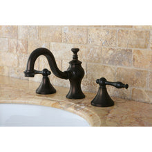 Load image into Gallery viewer, Kingston Brass Naples 8 in. Widespread Bathroom Faucet with Pop-Up Drain