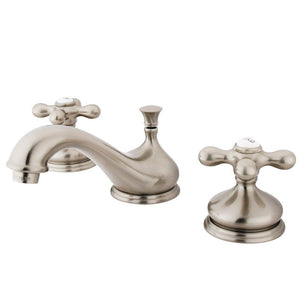Kingston Brass Heritage 8 in. Widespread Bathroom Faucet with Metal Cross Handles