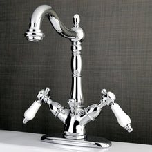 Load image into Gallery viewer, Kingston Brass Bel-Air Two-Handle Bathroom Faucet with Brass Pop-Up and Cover Plate