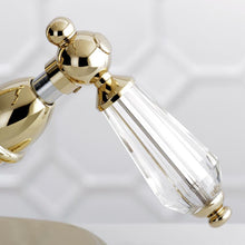 Load image into Gallery viewer, Kingston Brass Wilshire Two-Handle Bathroom Faucet with Brass Pop-Up and Cover Plate