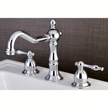 Load image into Gallery viewer, Kingston Brass Heritage 8 in. Widespread Traditional Bathroom Faucet with Metal Lever Handles