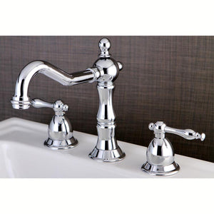 Kingston Brass Heritage 8 in. Widespread Traditional Bathroom Faucet with Metal Lever Handles