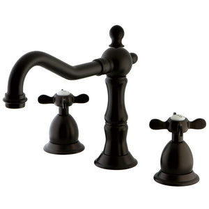 Kingston Brass Essex 8 in. Traditional Widespread Bathroom Faucet with Metal Cross Handles