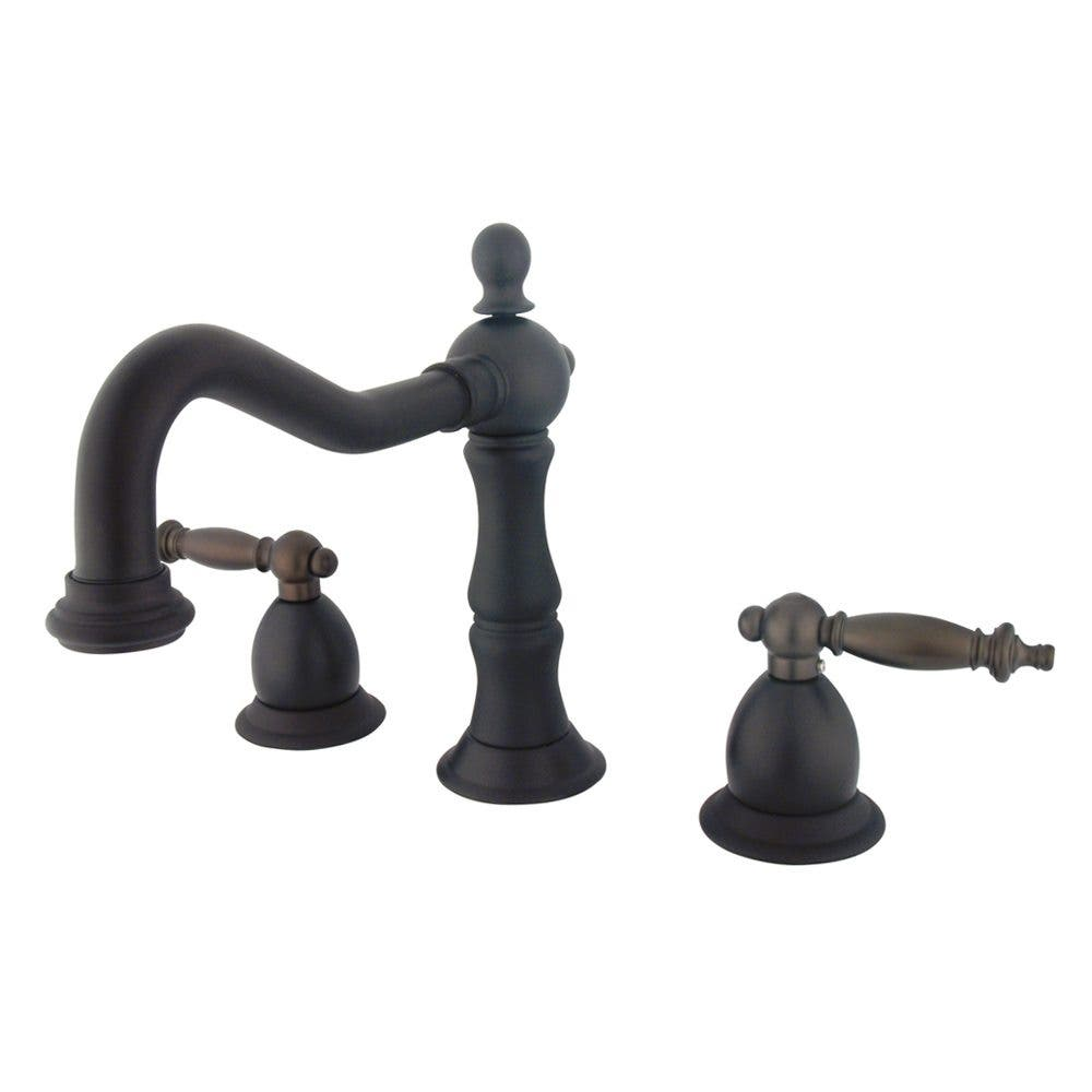 Kingston Brass Heritage 8 in. Lever Handle Widespread Bathroom Faucet