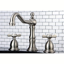 Load image into Gallery viewer, Kingston Brass Essex 8 in. Traditional Widespread Bathroom Faucet with Metal Cross Handles