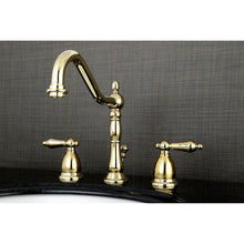 Load image into Gallery viewer, Kingston Brass Heritage 8 in. Traditional Widespread Bathroom Faucet with Metal Lever Handles