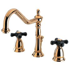 Load image into Gallery viewer, Kingston Brass Duchess 8 in. Widespread Bathroom Faucet with Black Cross Handles